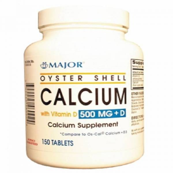 OYSTER SHELL CALCIUM 500MG PLUS D